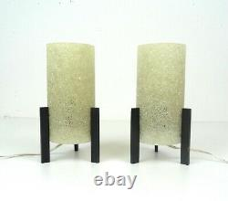 Very Rare Original 60s Rocket Space Age MID Century Pair Set Of 2 Table Lamps