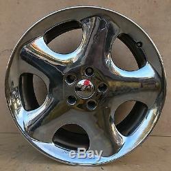 Very Rare Set Of 4 Bmw Antera 123 19 Chrome Wheels Rims No Center Caps Set Of 4