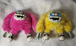 Very Rare Vintage Gigglee Eyes Monster Plush Set 1988 My Pet Monster