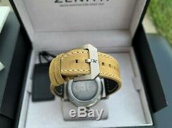 Very Rare Zenith Pilot Type 20 Extra Special 40mm Aged Steel Watch in FULL SET