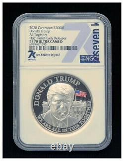 Very Rare and Valuable Set Donald Trump. 999 Silver Three Coins. 1, 2 & 5 Oz