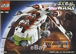 Very Rare lego Star Wars set 7163 pre-owned, REPUBLIC GUNSHIP. (NO MINIFIGS)
