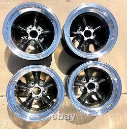 Very rare Original set of (4) American torque thrust D (magnesium) race wheels
