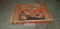 Vintage 1937 Snow White/Seven Dwarfs Tea Set W. D. Unused original box very rare