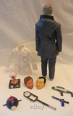 Vintage Captain Action Dr. Evil Figure with Rare Lab Set-Very Nice without box