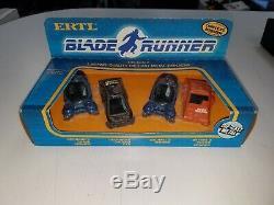 Vintage Ertl 1982 Blade Runner Diecast Set Of Movie Vehicles Very Rare Sealed