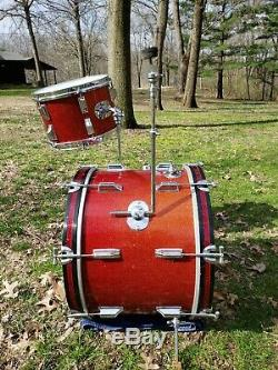 Vintage Rogers Cleveland 12,16,20 Drum Set RARE Very Close Serial #s