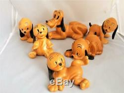 Wade Very Rare Pluto and all the Pups, Complete Set 1930's Wadeheath Disney