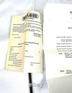 Weyless Pedal Set Sealed Bearing Bob Reedy 1970's very rare! 9/16 BMX NOS