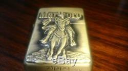 Zippo Marlboro Cowboy Marlboroman Brass lighter Collectible Set 1999 Very rare