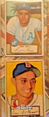 1952 Topps Baseball Complete Low # Set (-8) Withmost Stars Vg + / Vgex Tres Rare