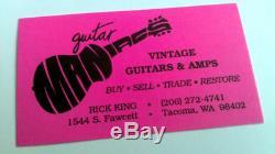 1959 Boutons Fender Stratocaster Set Slab Pré-cbs Vintage Très Rare
