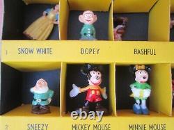 1960's Vintage Disneykins Complete Boxed Set Par Marx Rare & Very Nice Figures