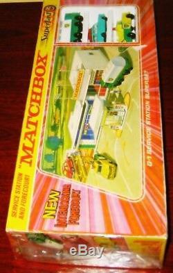 1970 Lesney Matchbox Moko Garage Bp Coffret G1 Read Stockage Find Très Rare