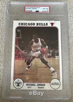 1985 Bulls Interlake Set Avec Michael Jordan Psa 8 & 9. Woolridge Bgs Très Rare