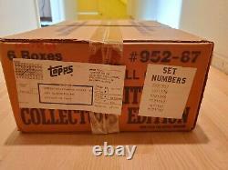 1987 Tiffany Usine Set Topps Case! Scellé! 6 Ensembles Complets! Très Rare Dernier