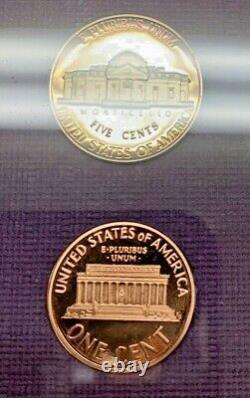 1990 No S Lincoln Penny Proof Set Ogp Us Mint Très Rare