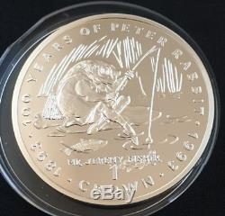 1993 Monnaie Pobjoy Gibraltar 100 Ans De Peter Rabbit 6 Pièces Crown Set Très Rares