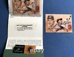 1993 Upper Deck Ted Williams Auto Card, Avec. Rare Signature Très Audacieuse