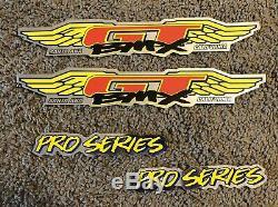 1995 Gt Pro Series Bmx Autocollant Décalques Ensemble Nos Tres Rare! Gt Bmx