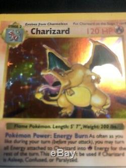 1999 De Base Charizard Holo 4/102 Shadowless Carte Pokemon Rare Nm / M Very Nice