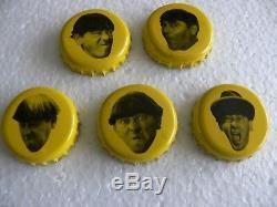 1999 Trois Stooges Panther Beer Bottlecaps (ensemble Complet De 15) Très Rare! Nyuk