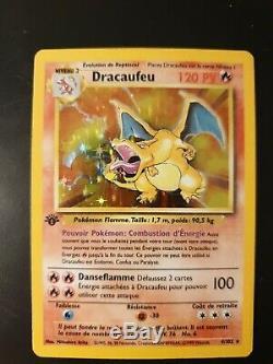 1ère Édition Dracaufeu, Set De Base Français 4/102 Tres Rare Psa 8 Pokemon