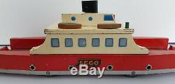 50's Vintage 40 Lego Jouets En Bois Ferry Danemark Mursten Système Très Rare