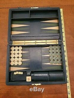 Asprey Backgammon, Bleu, Cru, Très Rare, Très Agréable