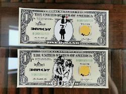 Banksy Art Ensemble De 10 Dollars Tres Rare Toile Originale De Dismaland Cao