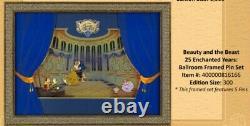 Beauty And The Beast Batb 25th Ballroom Framed Pin Set Le 300 Très Rare Coa