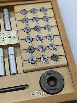 Bergeon 30010 Ensemble De Horlogers Tarauds Très Bon État Outils Rares