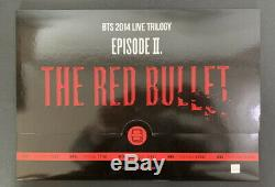 Bts 2014 Bts Trilogy En Direct Episode II The Red Bullet Poster Ensemble Complet Très Rare