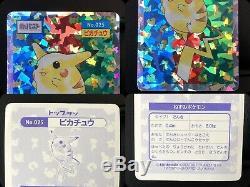 Carte Pokémon Topsun 150/150 Complete Set + Mewtwo Pikachu Holo Foil Très Rare