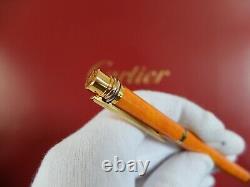 Cartier Doit Stylo Fontaine Avec 18k Gold Nib Très Rare Marque New Set