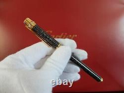 Cartier Must Fontaine Pen Avec Or 18 Carats Nib Très Rare Marque Nouveau Série