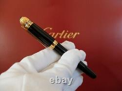 Cartier Pacha Fountain Pen Décor Noir Avec 18k Plume D'or Très Rare Ensemble Complet