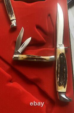 Case XX Lettre Rouge Complète 11 Couteau Ensemble 1978 Rare Très Dur À Trouver Monnaie Non Utilisée