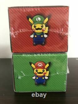 Centre Pokemon Mario Luigi Pikachu Set Carte Spéciale Boîte Très Rare