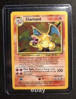 Charizard 4/102 Rare Holo Original Base Set 1999 Wotc Very Good! Pas De Réserve