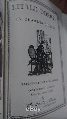 Charles Dickens Easton Press Black Label Cuir 8 Volume Set Tres Rare