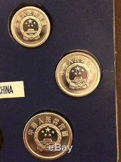Chine 1984 Pièces Proof Set Chinois De Métal Par Shanghai Mint Très Rare