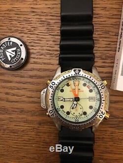 Citizen Promaster Aqualand Divers Vintage Watch, Très Rare Ensemble Complet! De Plus De Rechange