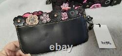 Coach Rogue 25 Tea Rose Pink Black Bag & Matching Clutch Very Rare Set