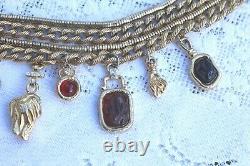 Collier Vintage Givenchy Et Ensemble De Broches 4 Brins Lourds Très Rare Trouver