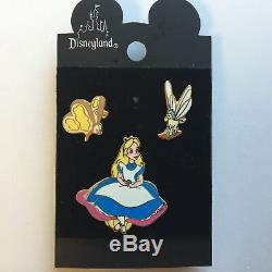 DL Alice Au Pays Des Merveilles 3 Pin Set Très Rare Et Difficile À Trouver Disney Pin 1911