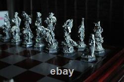 Danbury Mint Fantasy Of The Crystal Chess Set With Swarovski Crystals Very Rare