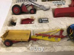 Ensemble Cadeau Corgi 22 Rare Vintage Boxed Farming Models Très Bon Pour L'âge