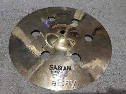 Ensemble De 3 Sabian Aax Air Splash Cymbales-8, 10 Et Très Rare 12 Taille Prototype