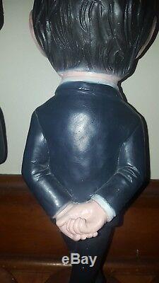Ensemble De 4 Beatles Prod Esco. Inc 1984 Chalkware 18 Statues Très Rare